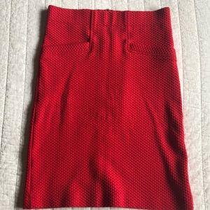 Anthropologie Red skirt